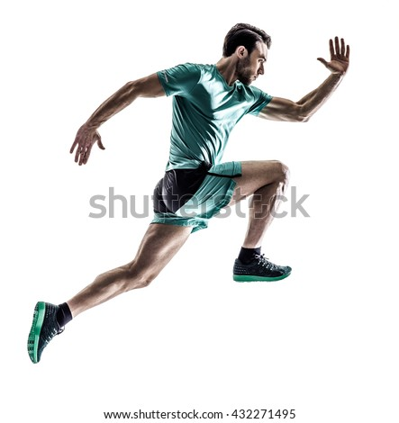 man runner jogger running  isolated #432271495