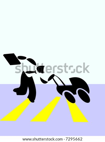 man running with stroller