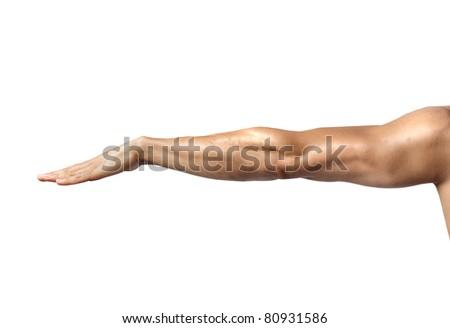 Man's arm - stock photo