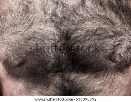 Man's hairy chest