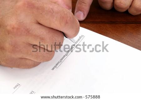 Student Signature Line Line Reads Signature of