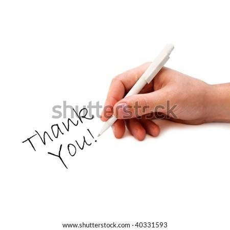 Man's hand writing