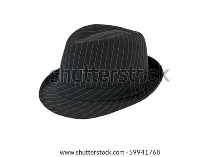 Man's hat isolated on white