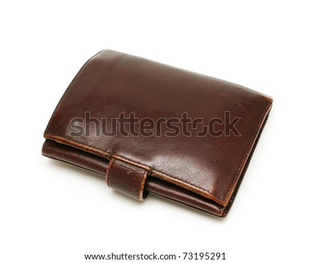 man's leather wallet - stock photo