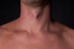 Man's neck - clean skin, body part