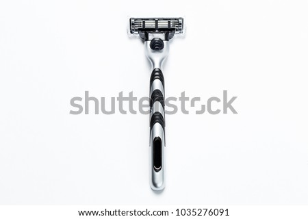 man's razor on a white background. Close-up.