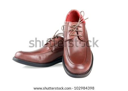 Man's shoe on a white background.