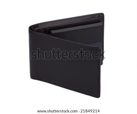man's wallet isolated on white