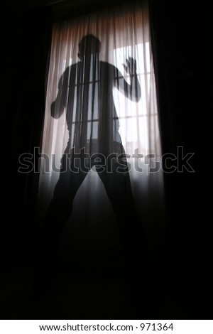 Man Shot Against The Light Of A Window Slow Shutter Speed The Man Been On T