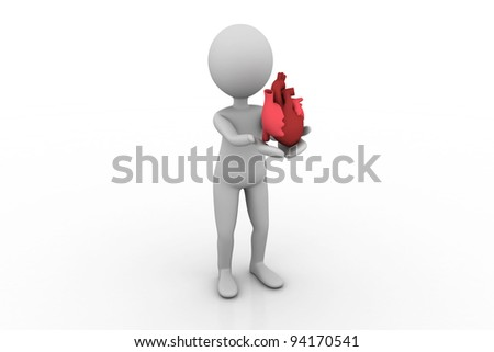 Man showing heart in his hand