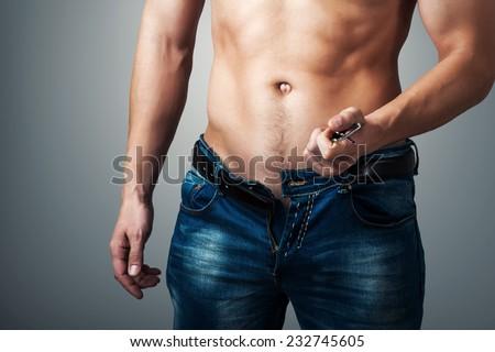 mature cock unzip pants