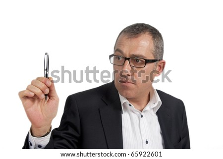 Man signing with pen
