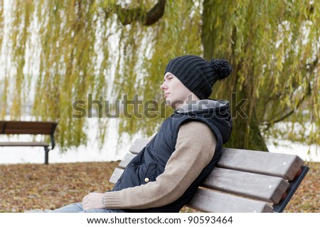 Man sits on the bench