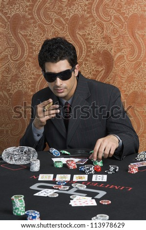 Man sitting at a casino table
