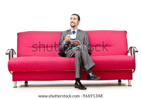 Man sitting in the sofa