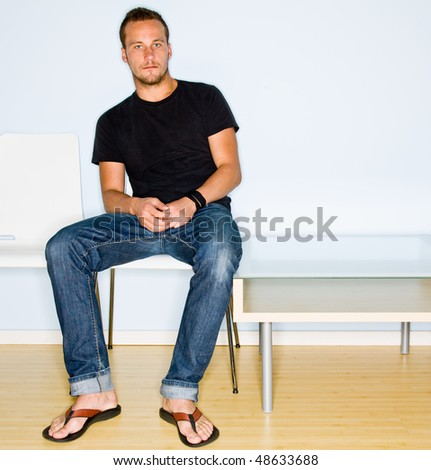 Man sitting in waiting room