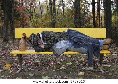 stock photo : Man sleeping on