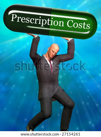 Man strains under Prescription Costs