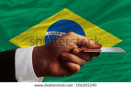 Brazil - national flag and outline maps