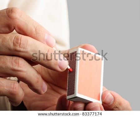 Man striking a match