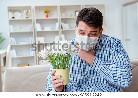 Man suffering from allergy - medical concept #665912242