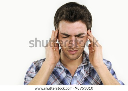 Man suffering from headache