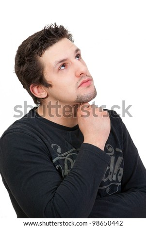Man Thinking about something