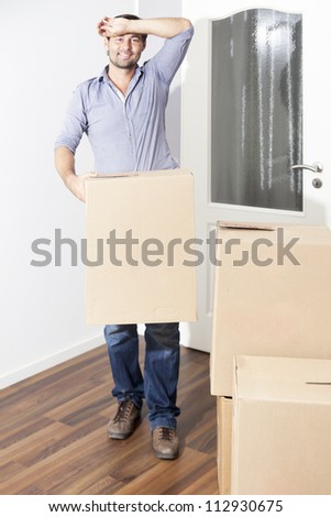 man tired of moving house