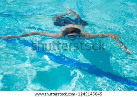 Man under water. Vacation and holidays. #1245145045