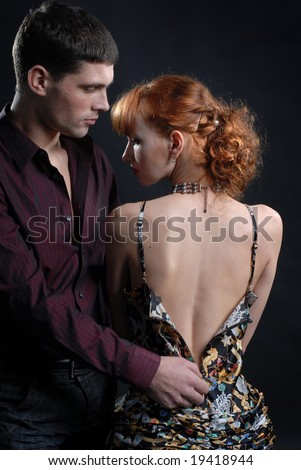 Man undress woman