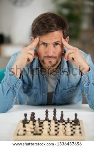 man unsure about chess match #1336437656