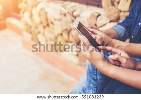 man using mobile smart phone #551081239