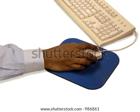 Man using mouse