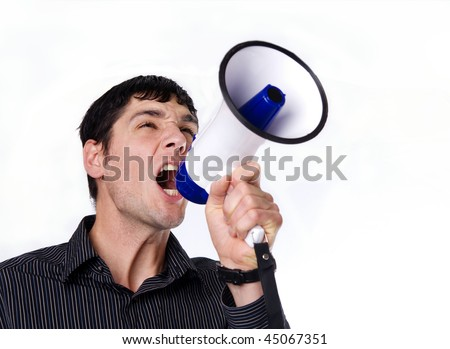 Man wanting to be heard