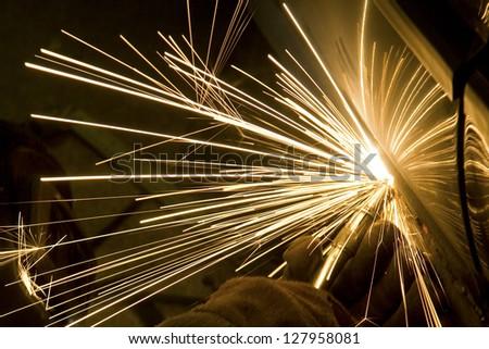 Man welding a car