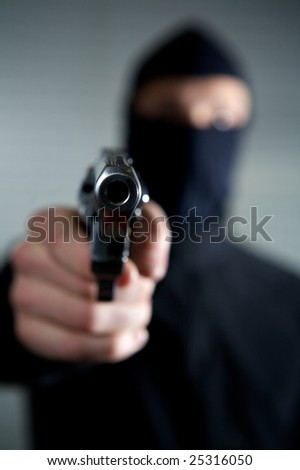 man who want to rob and kill in a property violation