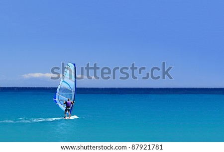 man wind surfing and have healthy lifestyle