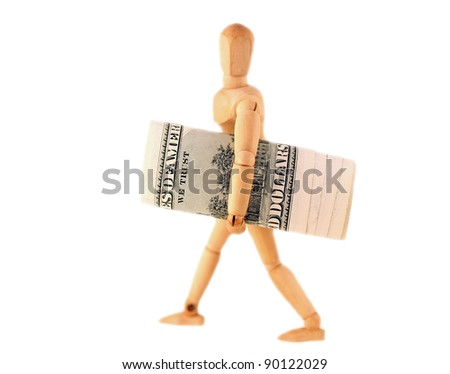 Man with a 100 dollars roll in his hands