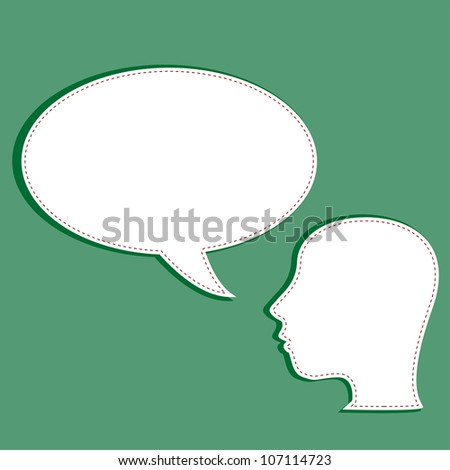 man with a empty speech bubble over his head. Raster