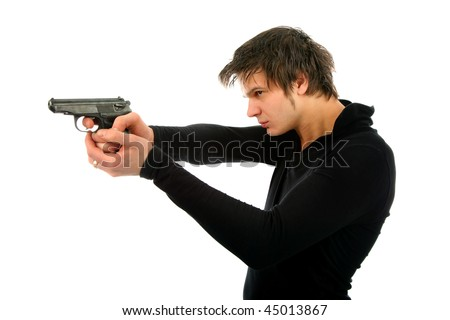 [Image: stock-photo-man-with-a-gun-isolated-back...013867.jpg]