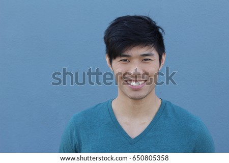 Man with a perfect white smile - Shutterstock ID 650805358