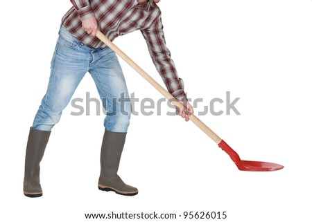 Man with a shovel