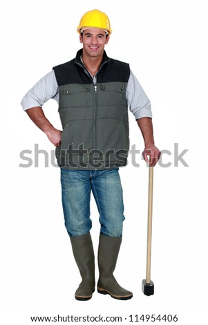 Man with a sledgehammer