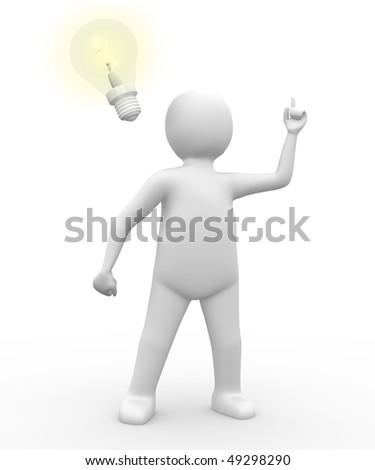 Man with an idea - stock photo