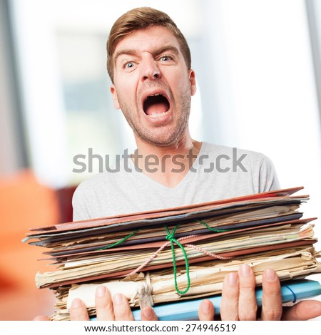 man with archives