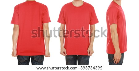 1e596b86 Red T-shirt. Back. Front. Images and Stock Photos - Page: 2 - Avopix.com
