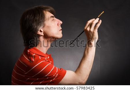 Man with brush