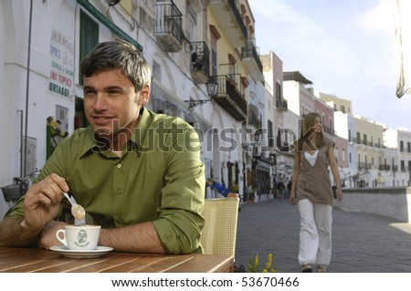 man with cappuccino