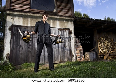 man with chainsaws