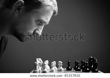 man with chess